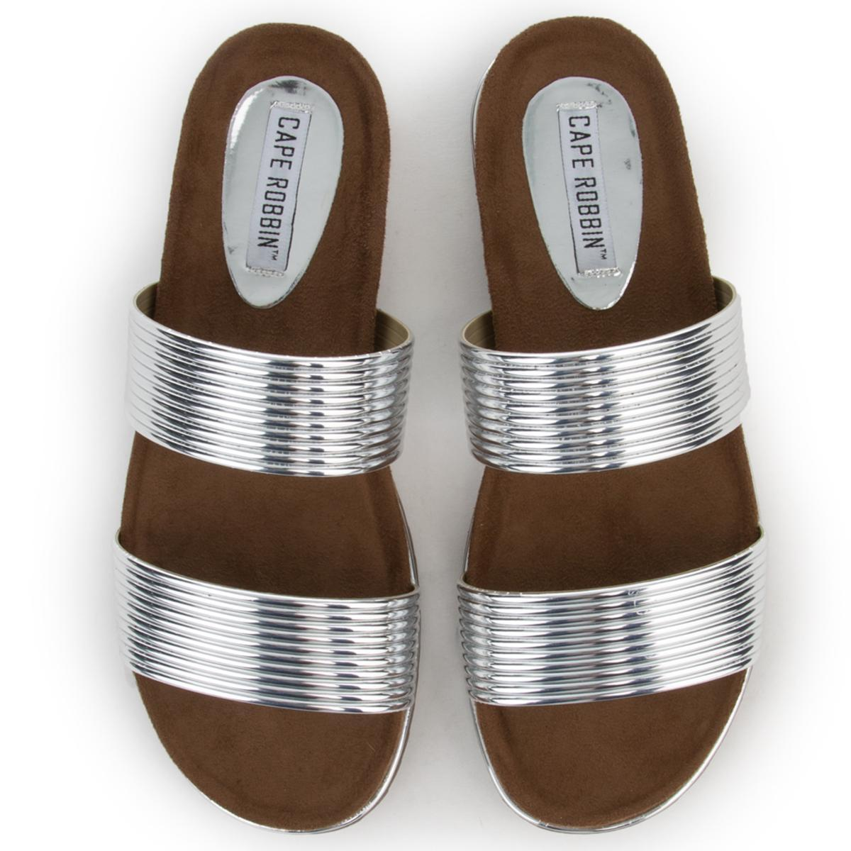 Cape Robbin Alisa-1 Women's Silver Sandals