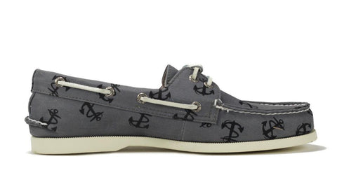 Sperry TopSider for Men: AO Tattoo Canvas Grey Boat Shoe