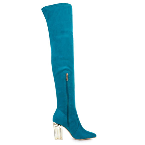 Cape Robbin Women's Fay-2 Blue High Heel Boot