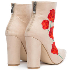 Cape Robbin Beautiful-9 Women's Nude Heeled Booties