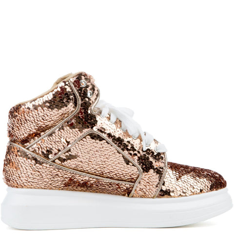 Cape Robbin Forever-5 Rose Gold Women's Sneaker