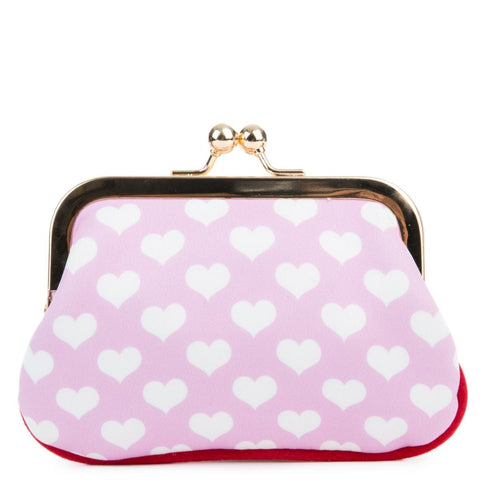Irregular Choice Mickey Mouse & Friends Collection Women's Love N Kisses Pink Coin Purse