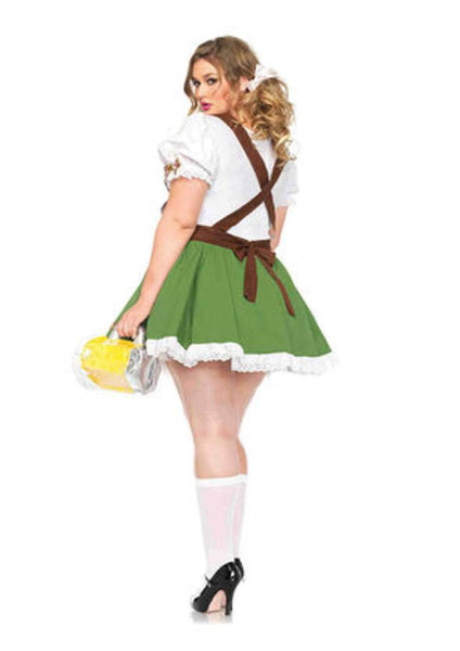 Oktoberfest Sweetie,peasant dress w/attached bib suspender in MULTICOLOR