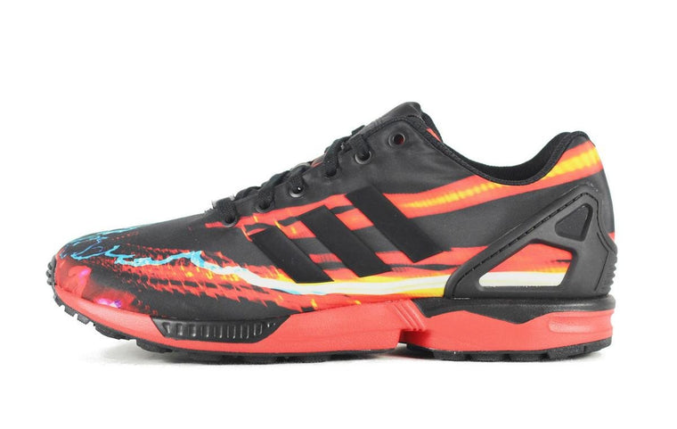 Adidas for Men: ZX Flux B34140 Red Multi Sneaker