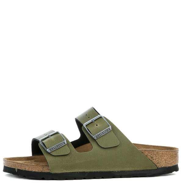 Women's Narrow Arizona Birko-Flor Olive Pull Up Sandal