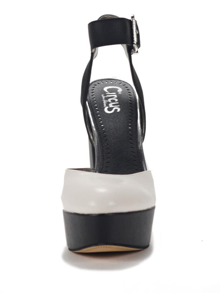 Circus by Sam Edelman for Women: Nyla White Black Wedge High Heels