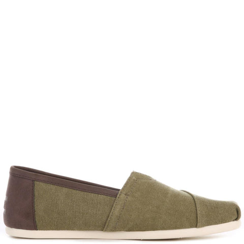 Toms for Men: Olive Washed Canvas/Trim Classic