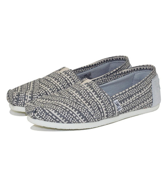 Toms for Women: Classic Light Grey Printed Wool