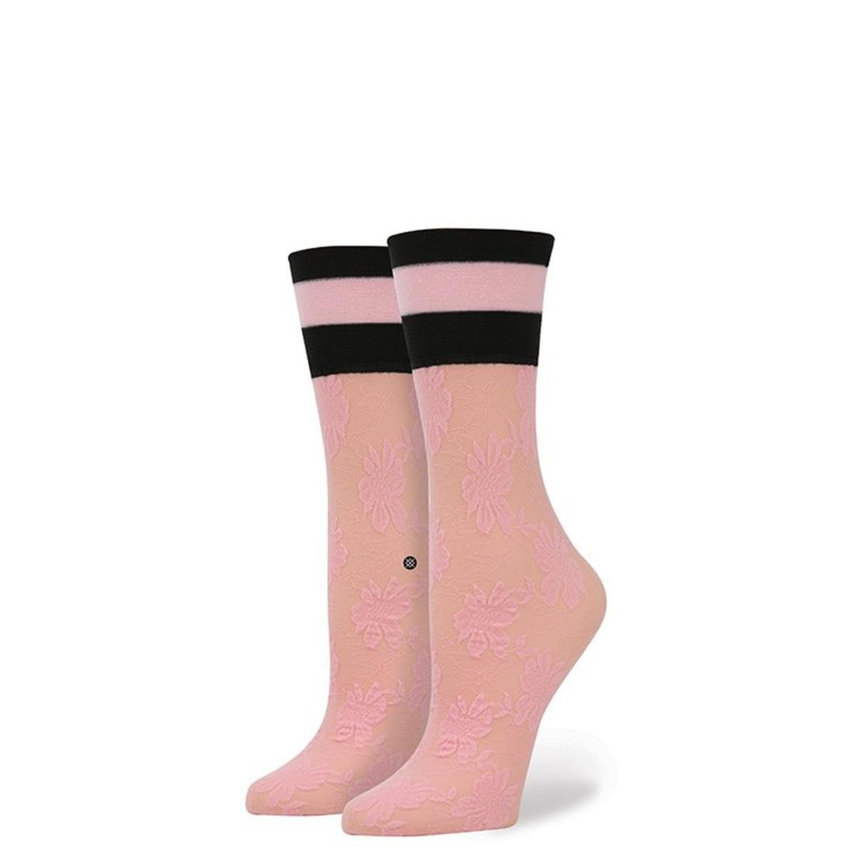 Stance for Women: Lace Sock Pink
