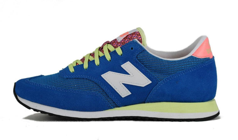New Balance for Women: CW620CBI Electric Blue, White, and Pink Sneakers