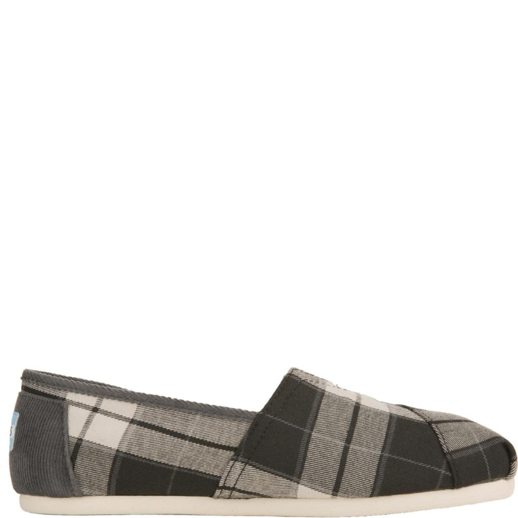 Classic Black and White Plaid Woven Flats