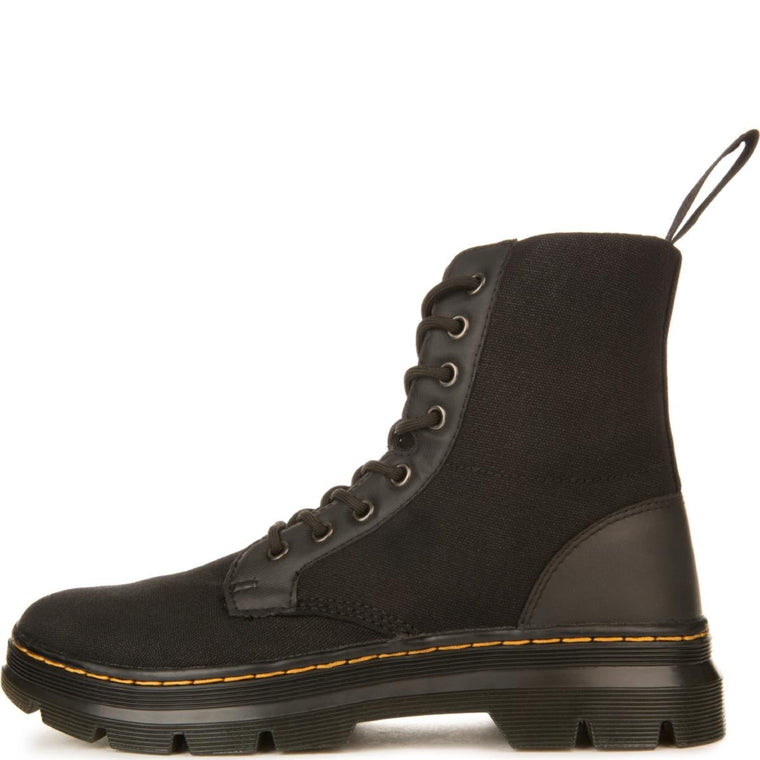 Dr. Martens Unisex: Combs Black Canvas Boots