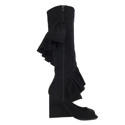 Jeffrey Campbell for Women: Hullabaloo Black Suede Wedge Boots