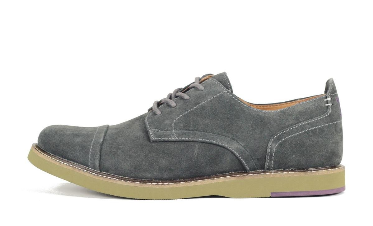 JD Fisk for Men: Jenson Grey Oxford Shoe Oxford