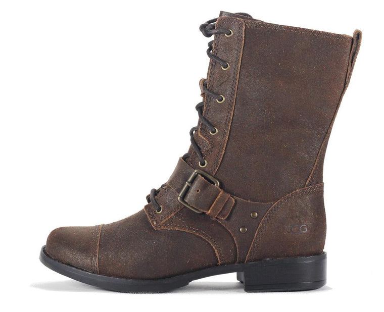 UGG Australia for Women: Marela Dark Chestnut Lace Up Boot