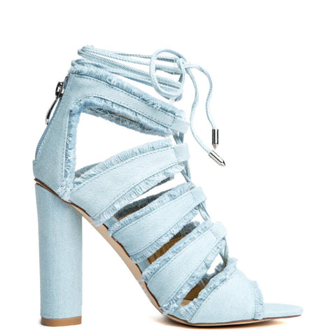 Cape Robbin Maura-5 Denim Women's High Heel