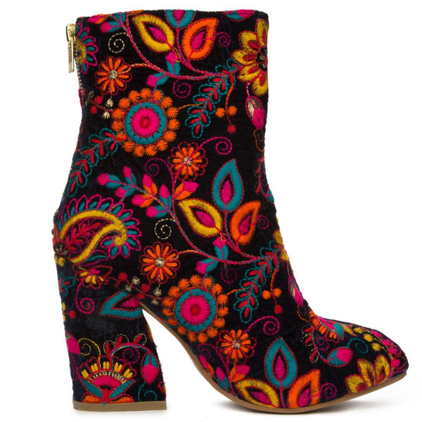 Women's Power Navy Heeled Booties
