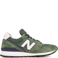 New Balance for Men: 996 Heritage Made In USA Green/Navy Sneakers