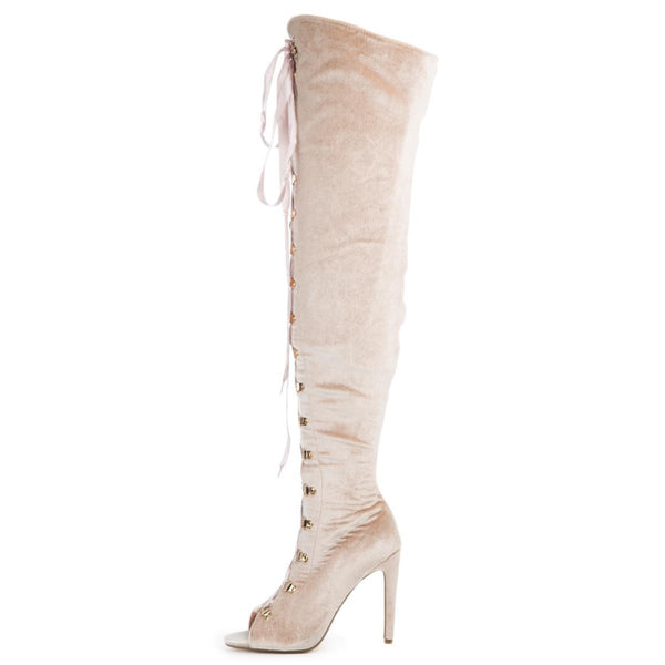 Cape Robbin Olga-27 Women's Pink High Heel Boot