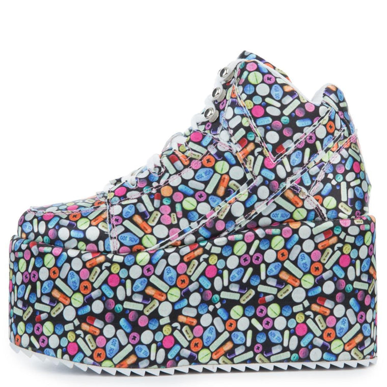 Women's Qozmo Pill Platform Sneakers in Multi