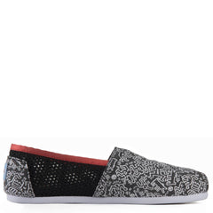 Toms for Women: Classic Keith Haring Chalkboard Flats