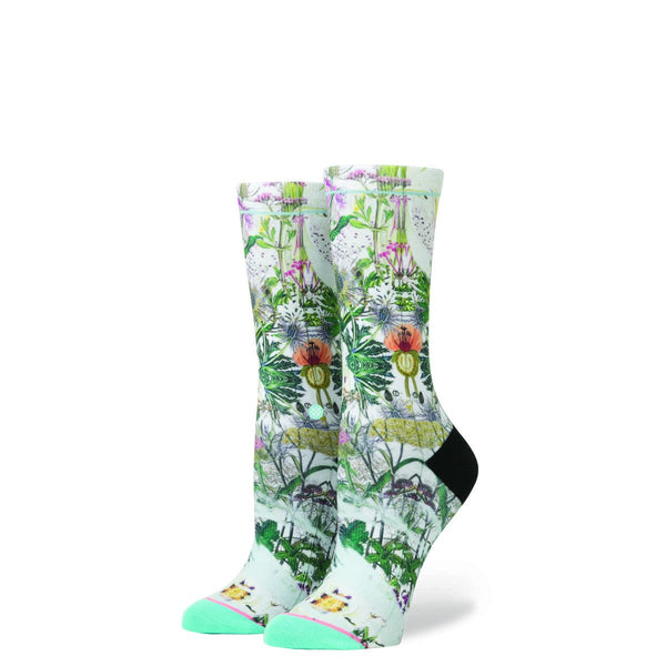 Stance for Women: Chaotic Flower Blue