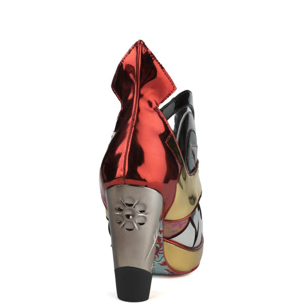 Irregular Choice for Women: I Don't Bite Gold Heeled Booties