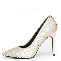 Cape Robbin Kitana-45 Women's Champagne Sequence High Heel