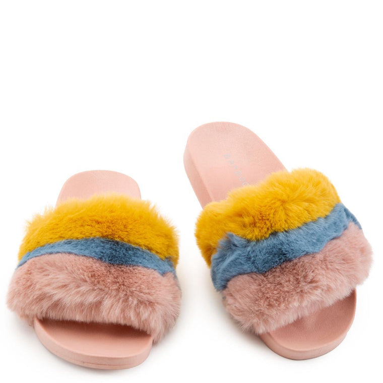Mindy-01 Fur Slides