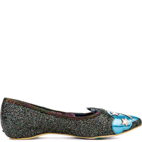 Women's Ground Control Black Flats