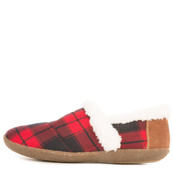 Toms for Women: House Slippers Red and Black Plaid