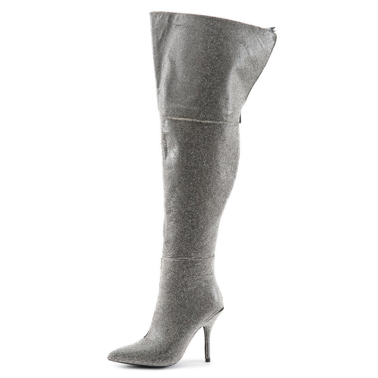 Crown High Heel Boots