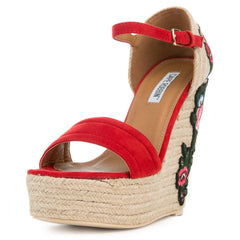 Cape Robbin Women's Zelda-8 Red Espadrille Wedge