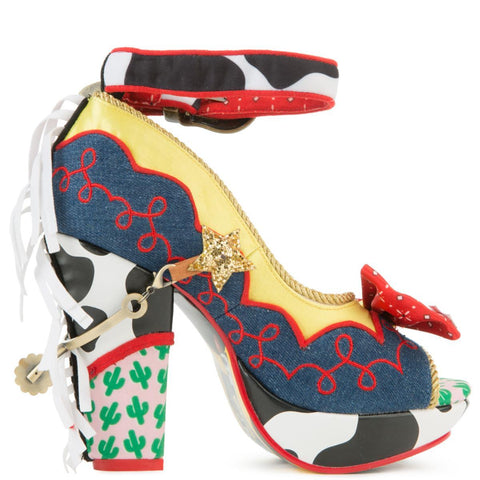 Toy Story x irregular Choice Women's Rootinest Tootinest Cowgirl Heels