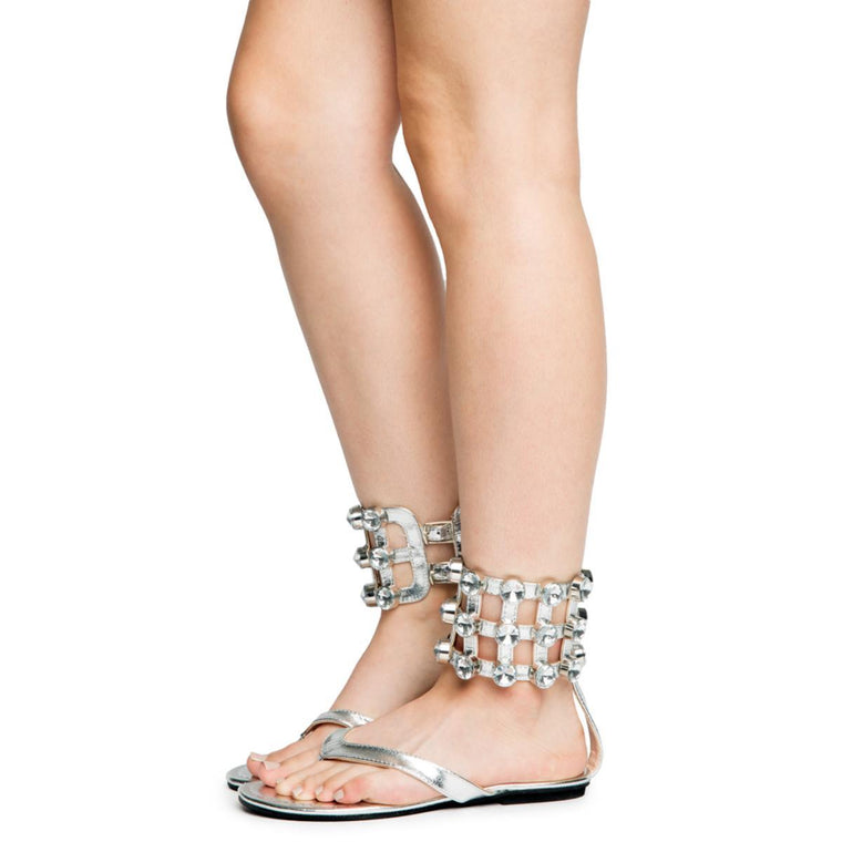 Cape Robbin OMH-12 Women's Silver Sandals