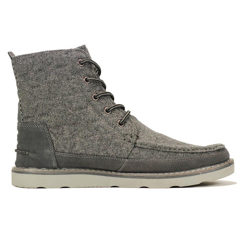 Toms for Men: Searcher Boot Castlerock Grey Quilted Wool Suede