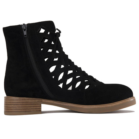 Adderly Cut-Out Lace Up Boots