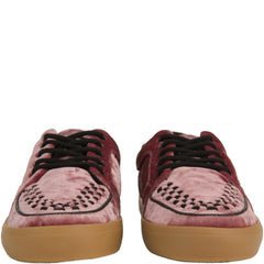 T.U.K for Women: Rose Pink Velvet VLK Sneakers
