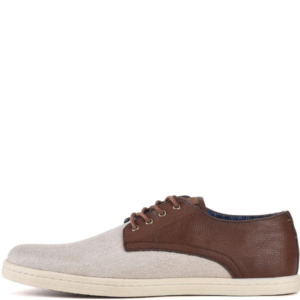 Ben Sherman for Men: Parnell Cognac/Linen Oxfords