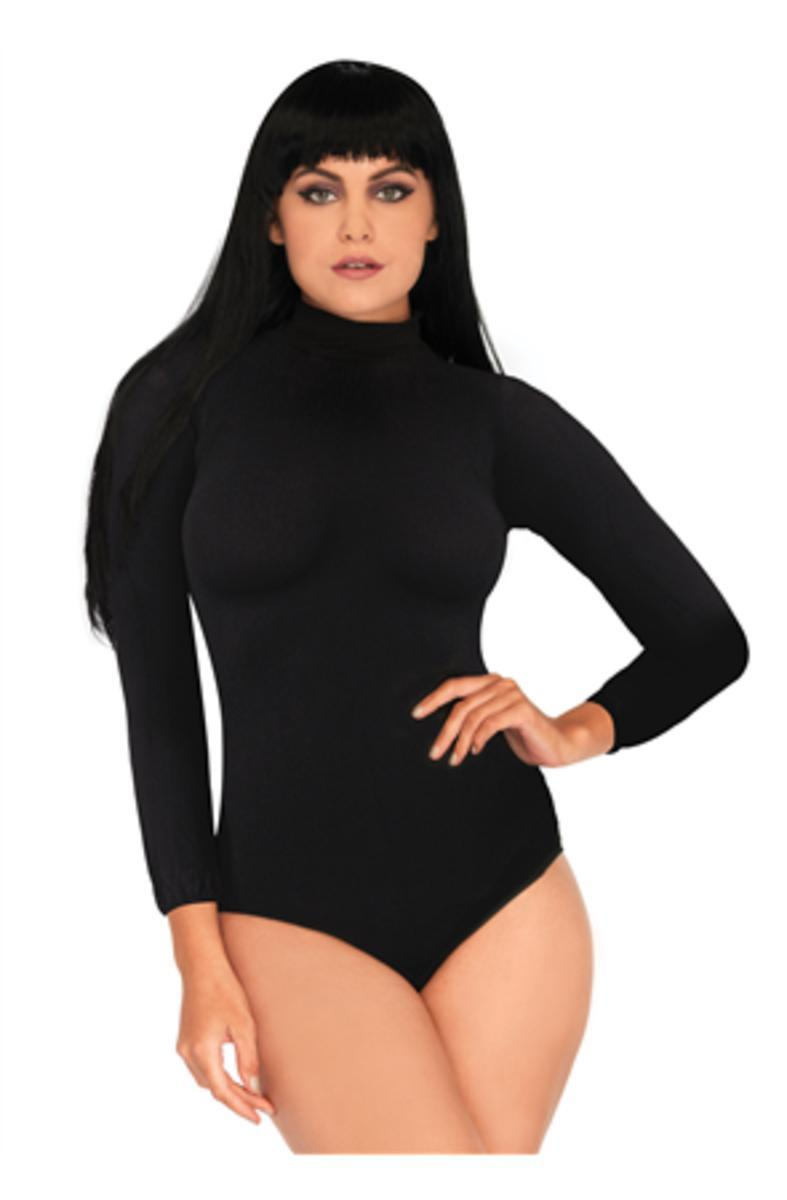 High neck bodysuit with snap c