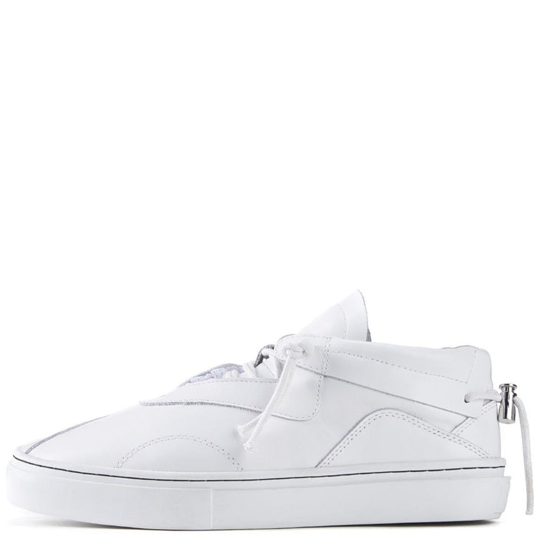 Clear Weather for Men: Everest White Leather Sneakers