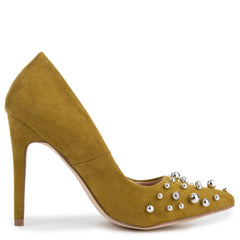 Cape Robbin Tiarra-34 Women's Olive High Heel