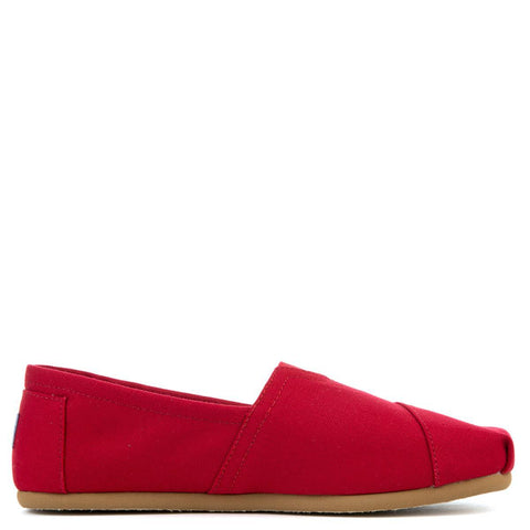 Toms Classics Red Canvas Men's Flats