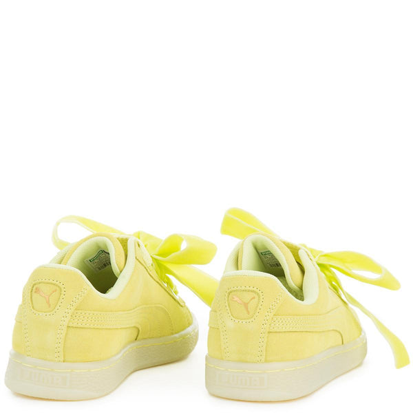 Women's Suede Heart RESET Yellow Sneaker