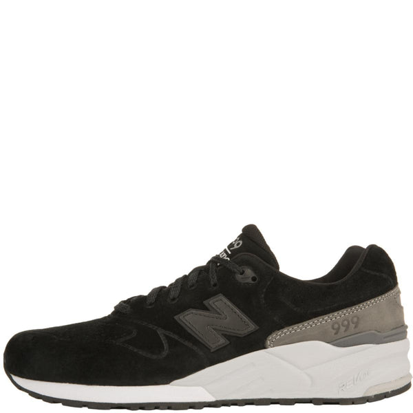 promo code f9025 39ffd New Balance for Men: 999 Re-Engineered Black Suede Sneakers
