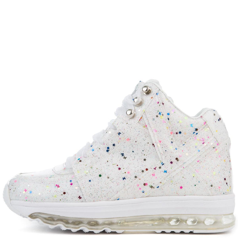 YRU Qozmo Aiire Women's Confetti Light Up Sole Sneaker