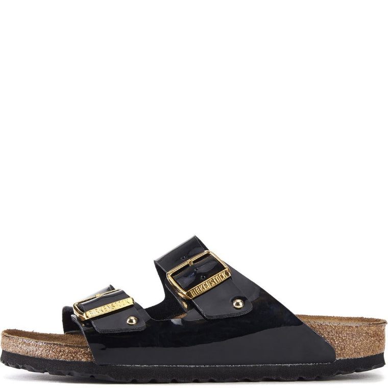 Birkenstock for Women: Arizona Black Patent Birko-Flor