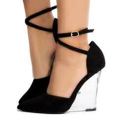 Athan-2 Pointy Toe Clear Wedges