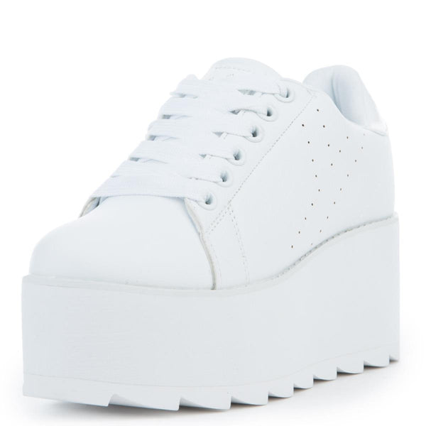 Women's Lala White Platform Sneakers