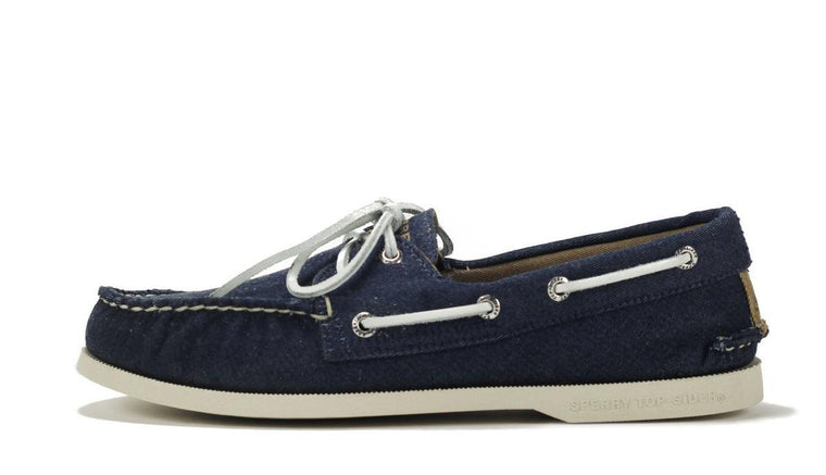 Sperry Topsider for Men: A/O 2 Eye Navy Soft Canvas Boat Shoe
